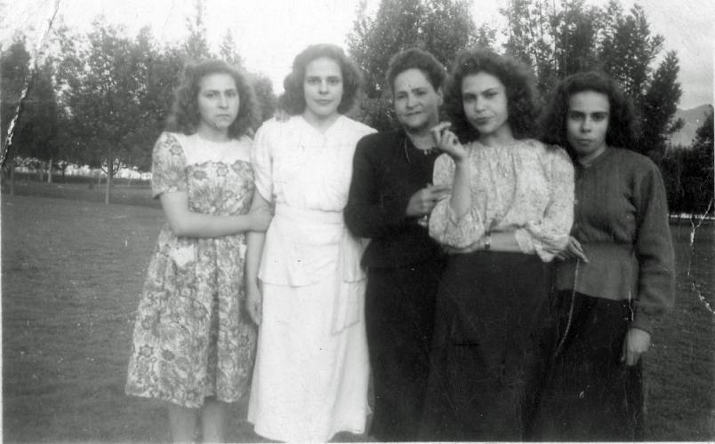 Cecilia Mogollon with her mother, Rosa Hernandez and her sisters: Rosa Mogollo, Marina Mogollon and Mercedes Mogollon