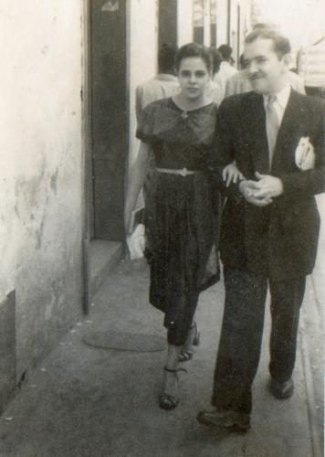 Cecilia Mogollon and her husband Jose Ismael Camacho in 1952
